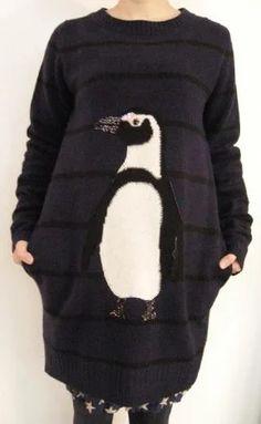 MUVEIL : ペンギン ニットワンピース | Sumally (サマリー)