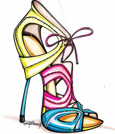 Shoe Sketches, Dress Sketches, Fashion Sketches, Fashion Illustration Shoes, Illustration Mode, Fashion Illustrations, Fashion D, Fashion Shoes, Luxury Fashion