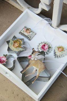 Nostalgische Weihnachts-Anhänger aus Plätzchenausstechern / Nostalgic Christmas ornaments made of cookie cutters
