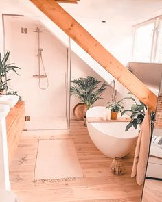 Bathroom Plants, Boho Bathroom, Chic Bathrooms, Bathroom Interior, Modern Bathroom, Small Bathroom, Bathroom Ideas, Bathroom Organization, Master Bathrooms