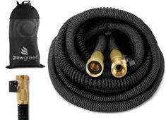 GrowGreen HEAVY DUTY 50' Feet Expandable Hose Set Garden Hose Storage, Blossom Garden, Different Vegetables, Solid Brass, Amazing Gardens, Earth, Vegetable Garden, Plants, Free