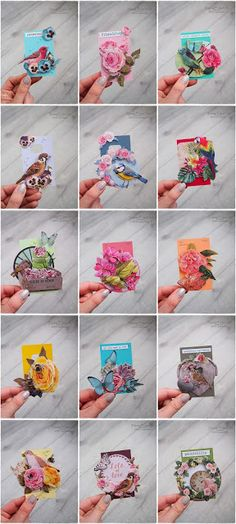 Marta Lapkowska: #RainbowTinyCards from Paint Samples TUTORIAL #MaremiSmallArt