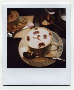 A panda bear coffee design! Too cute.
