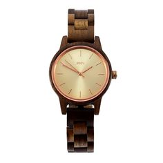 Rose Gold & Walnut Wood Watch by Skov. Skov Provides Wooden Watches That Are Authentic, Unique and Lasting. Wooden Watch, Walnut Wood, Rose Gold, Watches, Elegant, Unique, Accessories, Beautiful, Design