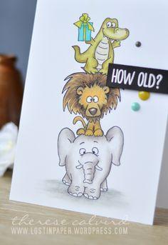 Lostinpaper - Gerda Steiner - Party Animals (card video) 1