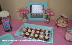 Shabby Chic 1st Birthday - Cupcakes and Desserts
