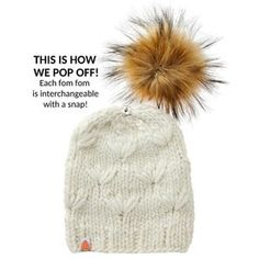 619368450 Shit That I Knit Motley Beanie - Heather - Faux Fur Pom