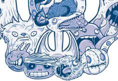 MonsterSkull by Franck Graetz, via Behance