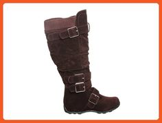 Buckle Sweater Knee High Boot (5.5, Brown) - Boots for women (*Amazon Partner-Link)
