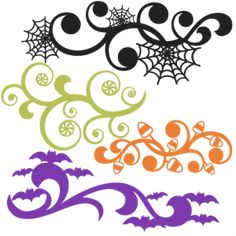 Halloween Flourish Set SVG scrapbook title SVG cutting files crow svg cut file halloween cute files for cricut cute cut files free svgs