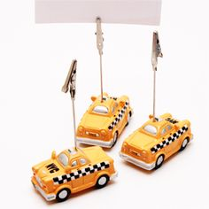NYC checker cab table numbers with simple white card numbers. SK