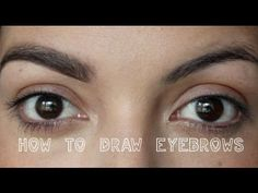 How to Draw in / Fix Eyebrows : Updated