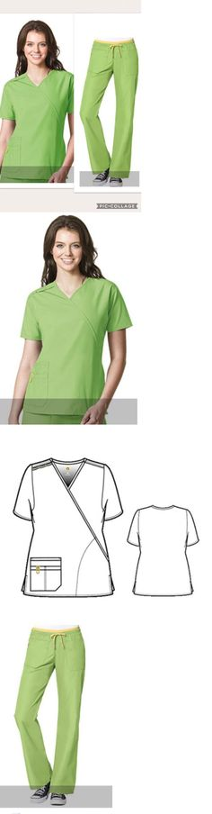 ea40a13198b Sets 105432: New Wonderwink Medium Regular Green Apple Scrub Set Medical  Uniform ->