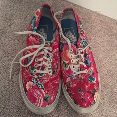 Paisley print floral vans Really good condition just need to be cleaned up. I just never wear them anymore so I just want them out of my closet. Vans Shoes Sneakers