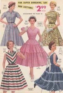 1950's Dresses- Circle Skirt, Coat Dress, Shirtwaist Dress