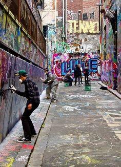 Street Artists, Melbourne, Vic