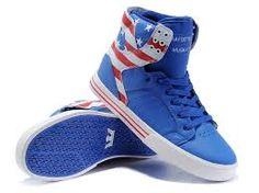 55c81225678e Chad Muska Skytop High Top Mens Blue White Red Shoes The Supra Shoes  Pictures