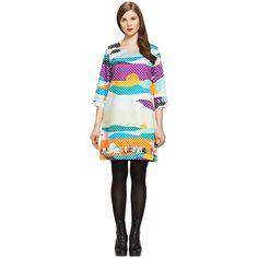 Hvass & Hannibal print Marimekko dress from the Kaiaka by Mai Ohta collection. 1960s Fashion, Girl Fashion, Fashion Dresses, Crazy Outfits, Girl Outfits, Marimekko Dress, Church Attire, Girls Be Like, Autumn Fashion
