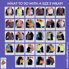 What to do with a size 3 wrap?  Bindeweisen für ein Tragetuch in Größe 3