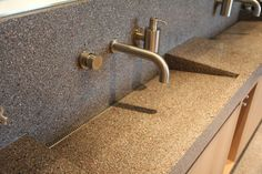 The perfect terrazzo sink.  Terrazzo has many great features including its durability, its aesthetic beauty, its easy maintenance, and cost-effective pricing.  A terrazzo sink will look good for any kitchen or bathroom. Not to forget that terrazzo has value in that it is slip resistant and bacteria resistant.  www.terrazzco.com