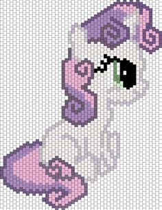 Sweetie Belle Bead Pattern | Peyote Bead Patterns | Characters Bead Patterns