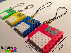 Floppy Disk Keychain and Charm from Perler Beads Set of door DJbits, $2.00