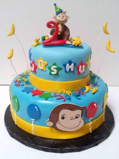 Tier Cakes For Weddings In Ashburton Wedding Celebration Cake Bakers Curious George Cakes, Curious George Party, Curious George Birthday, Birthday Parties, 2nd Birthday, Birthday Cakes, Birthday Ideas, Cake Pictures, Cake Pics