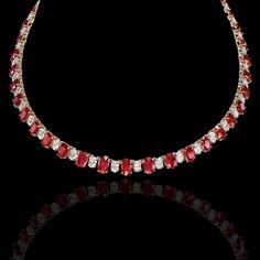 Ruby & diamond necklace.