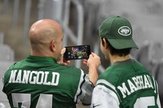 Monday Night Football: Jets vs. Cardinals:     October 17, 2016  -  28-03, Cardinals  -     New York Jets fans take a selfie prior to the NFL game between the New York Jets and Arizona Cardinals at University of Phoenix Stadium on Oct. 17, 2016 in Glendale, Ariz.