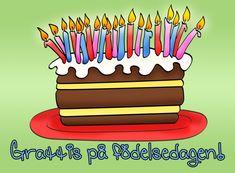 Tårta på dagen Happy Birthday Wishes, Birthday Cards, Graffiti, Birthdays, Painting, Study, Tips, Image, Happy