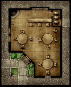 Game tiles for a Dungeons and Dragons tavern