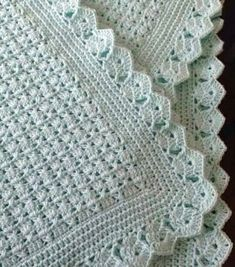 Crochet Baby Blanket Blue with