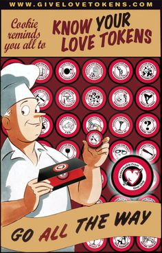 Choose your Love Tokens Humorous Gift Funny by GiveLoveTokens