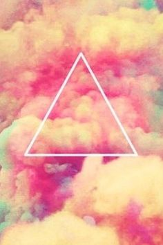 cloudy hipster triangle iPhone wallpaper background