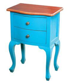 Blue Holtville Side Table #zulily #zulilyfinds