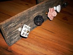Accessory Rack with Assorted Knobs by TheBarnOwlBoutique on Etsy, $30.00