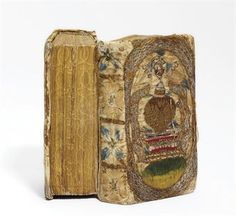 Embroidered Dos-a-Dos binding, date and place unknown, but assume early 17th c