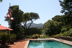 Just love this setting - spectacular pool with Mt. Tam view in Kent Woodlands - Kentfield, Marin County - #kentfieldcalifornia - #marincounty - #marincountyrealestate