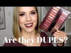 I am comparing the New Urban Decay Naked Cherry Palette vs Rimmel Crimson Palette to see if it is a dupe! Beauty Stuff, Hair Beauty, Makeup Tips, Hair Makeup, Expensive Makeup, Make Up Dupes, Flawless Makeup, Color Stories, Rimmel