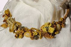 Yellow Silk Necklace by GypsyPurl on Etsy, $125.00