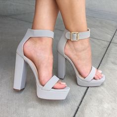 Square Away Chunky Faux Nubuck Heels Checkout divafashion. Square Away Chunky Faux Nubuck Heels Checkout divafashion. High Heels Boots, Heeled Boots, Shoe Boots, Gray Heels, Shoes Sandals, Suede Heels, Black Shoes, High Heels For Prom, Cute Shoes Heels