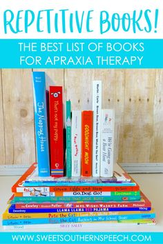 Repetitive Book List For Apraxia of Speech - Sweet Southern Speech