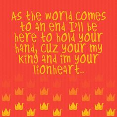 of monsters and men, quotes, king and lionheart