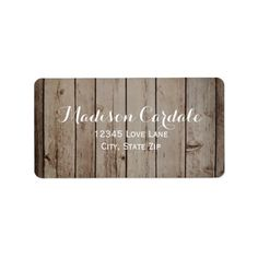 Antique Wood Rustic Country Return Address Labels SOLD on Zazzle