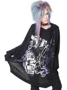CDJapan : CAGED Big Dolman Cutsew (F) SA68275-101 SEX POT ReVeNGE APPAREL. See more at: http://www.cdjapan.co.jp/apparel/ #punk #jrock #mensfashion