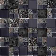 μαύρη γυάλινη ψηφίδα, τιμή από 80-90 Ε/με με φπα , κωδικός 48GPL06