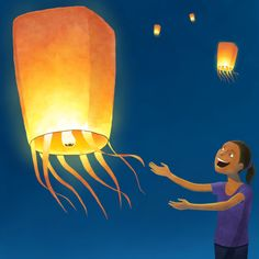 How to make a flying lantern. Mental note, they dont find this funny when you live near an airport