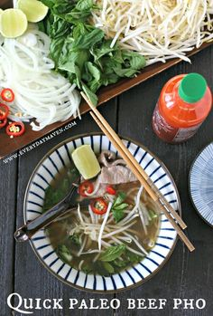 Quick Paleo Beef Pho Shared on https://www.facebook.com/LowCarbZen