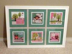 wall art by Pam Thorn using CTMH Lollydoodle paper