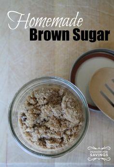 Homemade Brown Sugar! Easy DIY Recipe!